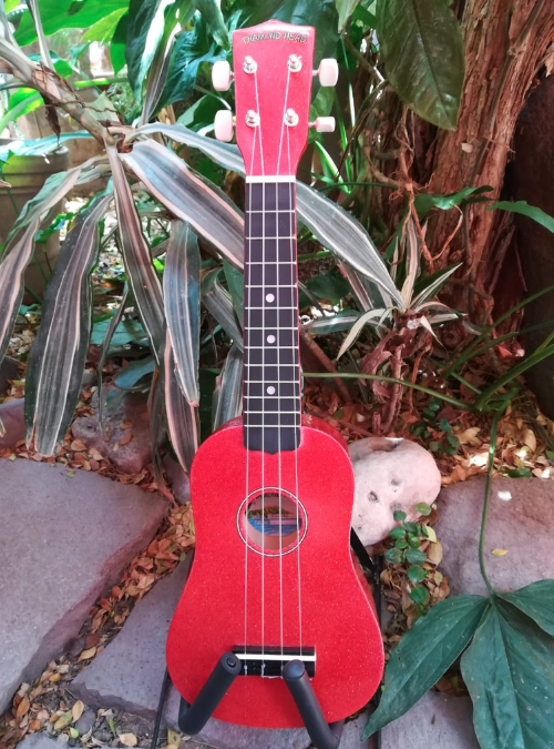 Ukulele Soprano Diamond Head Candy Red