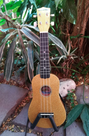 Ukulele Soprano Diamond Head Champagne Gold