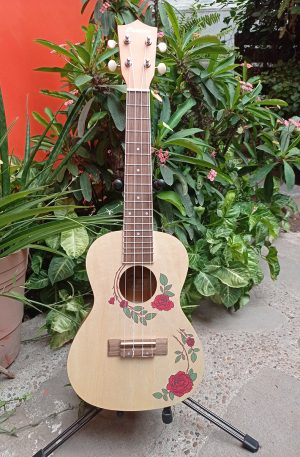 Ukelele Concierto Bamboo Rosas